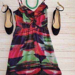 Jessica Simpson Multi Color Sun Dress Size 10
